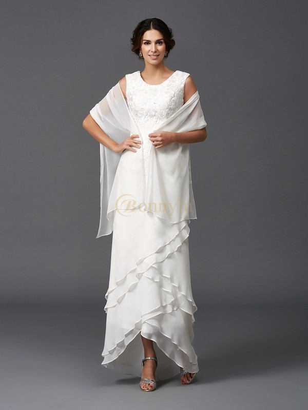 Ivory Chiffon Scoop A-Line/Princess Ankle-Length Mother of the Bride Dresses
