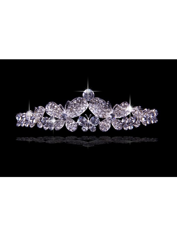 Great Alloy With Czech Rhinestones Wedding Headpieces