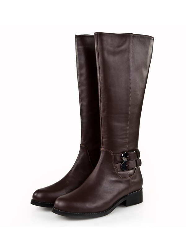 Bonnyin Flats Cattlehide Leather Boots