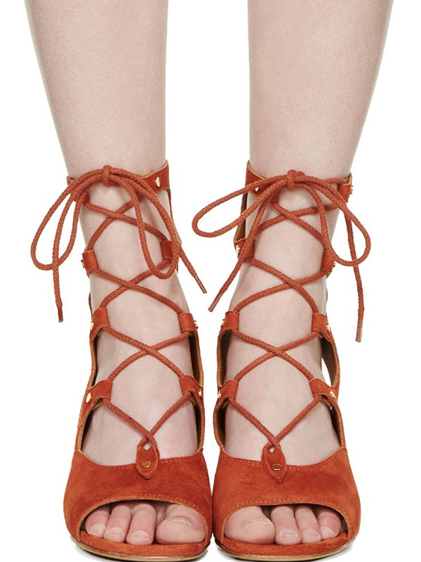 Bonnyin Suede Pierced Wedges Low to help Sandals Boots