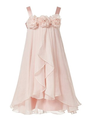 Pink Chiffon Straps A-Line/Princess Ankle-Length Flower Girl Dresses