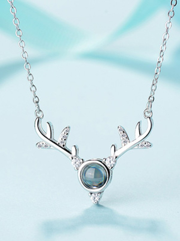 Elegant S925 Silver With Antler Necklaces