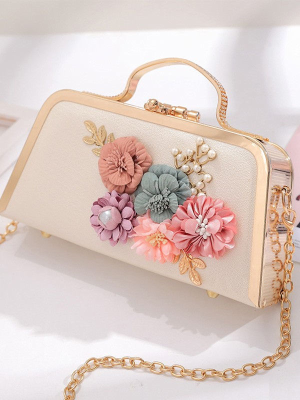 New Evening/Party Handbags With Flowers