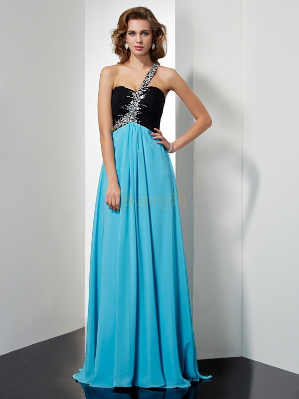 Chiffon One-Shoulder A-Line/Princess Floor-Length Dresses