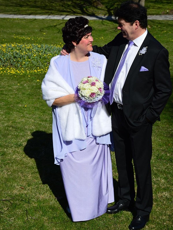Lilac Chiffon Scoop A-Line/Princess Floor-Length Mother of the Bride Dresses