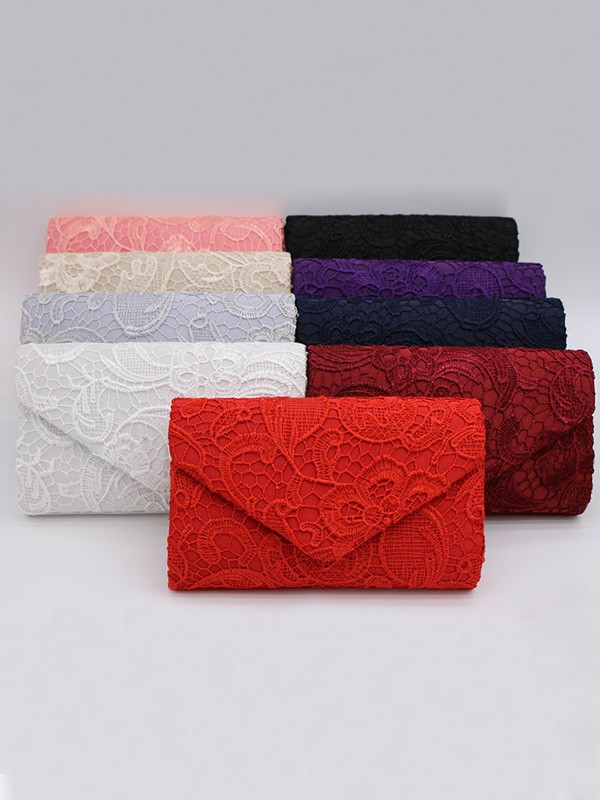 Pretty Lace Evening/Party Handbags With Flowers
